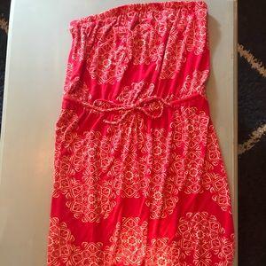 Like new strapless maxi dress